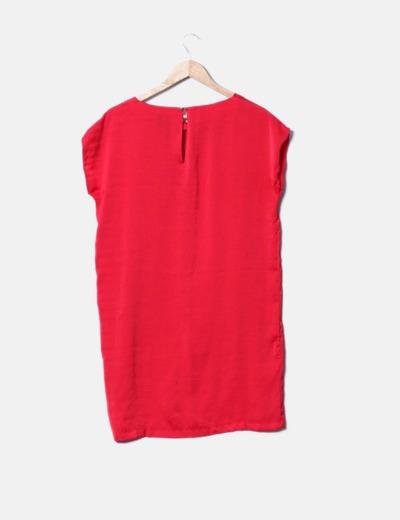 Vestido saten rojo