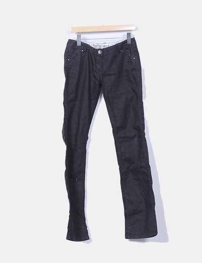 Pantalón vaquero negro recto Datch
