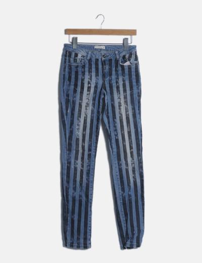 Jeans denim azul raya