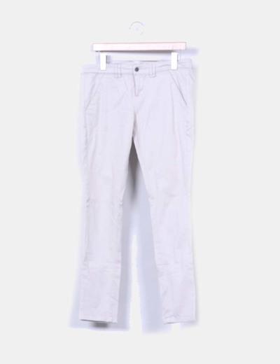 Pantalón de pinzas beige Bershka