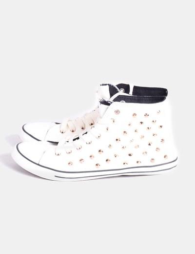 Chaussures abotas de sport tobilloada avec motif clous Suiteblanco