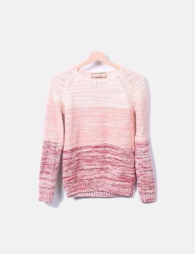 Jersey tricot degradado jaspeado