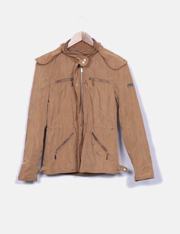 dde386f5cc9f con Chaquetas baratos y online capucha Mujer marrón de impermeable Zara  Cazadora Abrigos wExqX7XZ ...