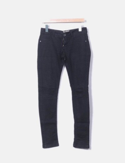 Pantalon noir denim Bershka