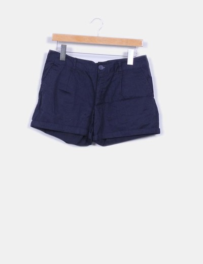 Short azul marino Denim Co.