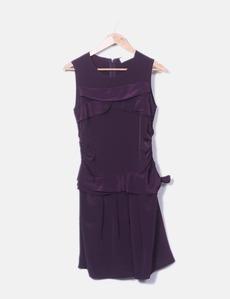 Robe violette avec motif cravate Purificación García 72114d0eaf0f