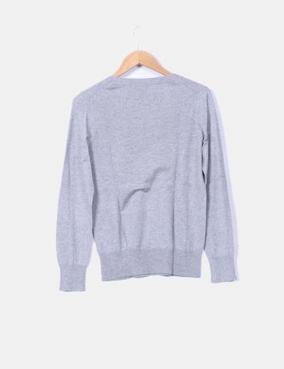 Jersey gris de escote pico