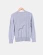 Jersey gris de escote pico Massimo Dutti