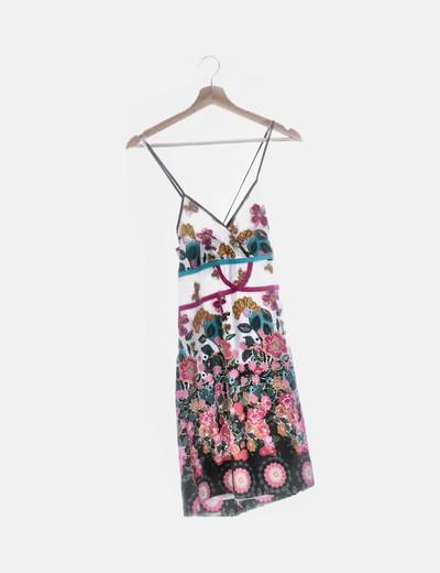 Vestido floral estampado