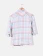 Blusa de cuadros en tonos pastel Bershka