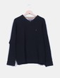 Jersey tricot negro  Tommy Hilfiger