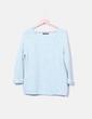 Jersey tricot azul calado Primark