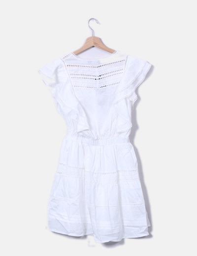 Vestido blanco calado