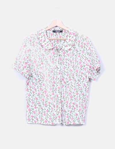 Camisa floral print rosas Cacharel