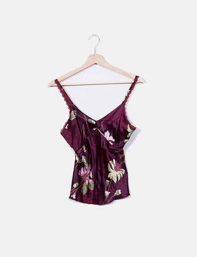 Blusa de tirantes satinada floral Easy Wear