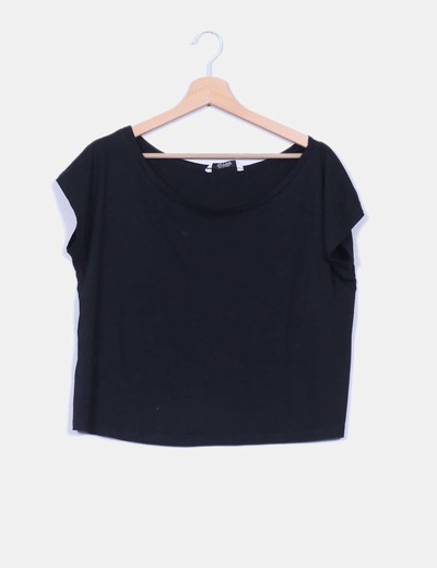 Camisa negra básica oversize Pull & Bear