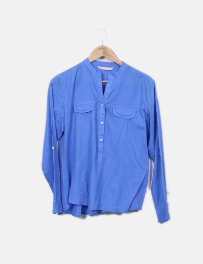 Chemisier bleu avec motif à poches Sfera