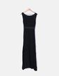 Vestido negro maxi combinado NoName