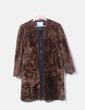 Abrigo de pelo marrón con cremallera Bimba&Lola