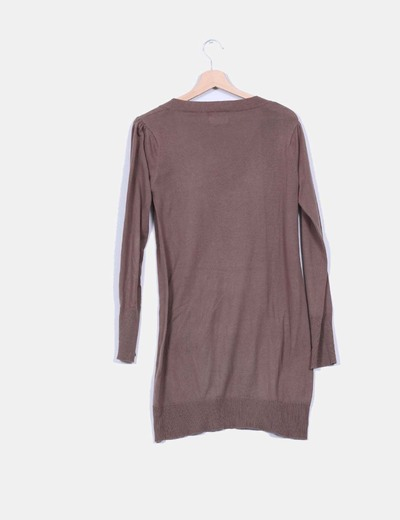 Tricot ocre largo