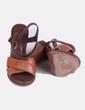 Sandalias de tacón marrones Uterqüe