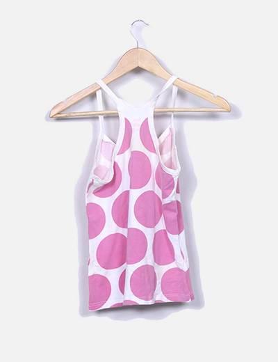 6cf45c3e0 Oysho Camiseta de tirantes con motas rosas y dibujo (descuento 86%) -  Micolet