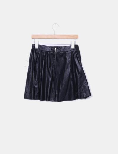 Minifalda negra irisada