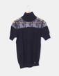 Top tricot negro combinado encaje G-Sel