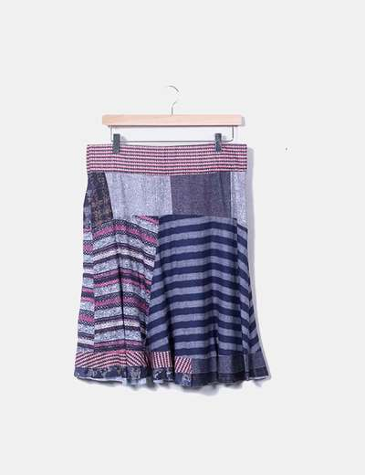 Falda estampada morada