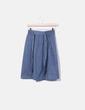 Falda midi estampado azul H&M
