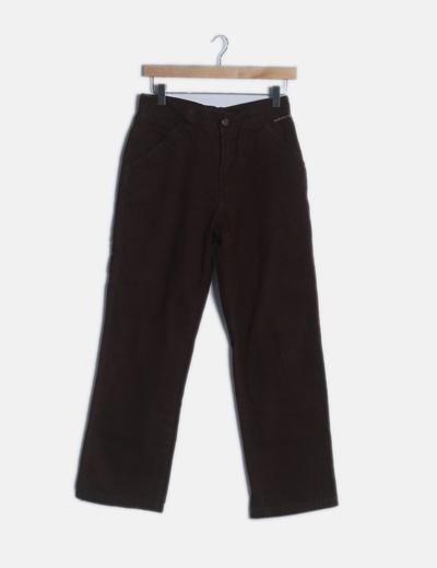 Pantalón marrón recto