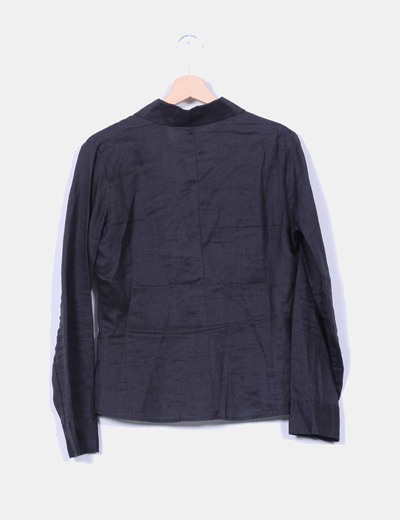 Camisa negra de ramio