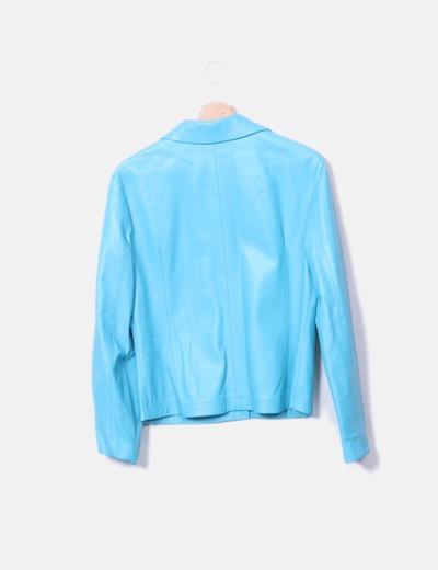 7058756514864 Cortefiel Chaqueta cuero azul (descuento 64%) - Micolet