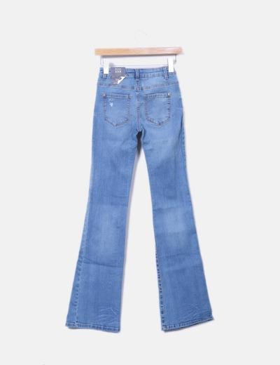 Jeans denim acampanado