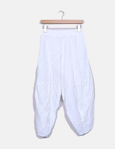 Pantalón baggy blanco Polita