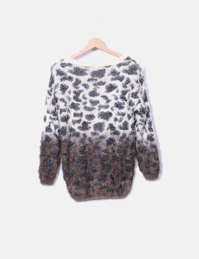 Jersey tricot estampado animal print