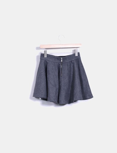 Mini falda pano evase gris