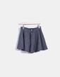 Mini falda paño evasé gris Zara
