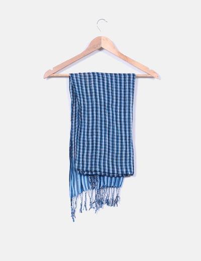 Foulard azul con brillos plata NoName