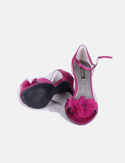 Zapato cocktail morado saten