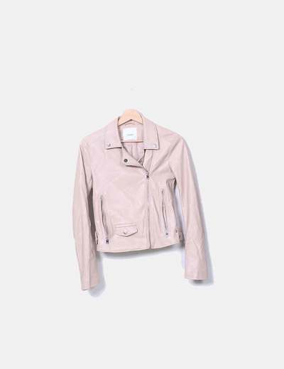 En cuir synthétique coupe-vent rose Pull&Bear