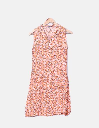 Vestido camisero estampado flores Maria Jose Navarro