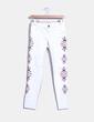Jeans denim blanco laterales bordados Suiteblanco