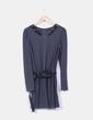 Vestido gris marengo combinado con puntilla Kilibbi