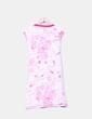 Vestido midi estampado en tonos rosas Gsus