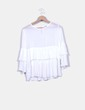 Blusa plisada blanca Armonias