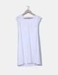 Vestido blanco con mangas en crochet Fransa