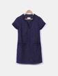 Vestido mini azul marino jaspeado con brillos Divina Providencia