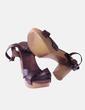 Sandalia tacón marrón Vogue