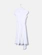 Vestido midi blanco manga corta Zara